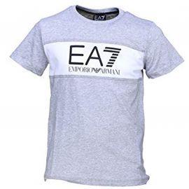 Tee shirt junior 3ZBT54 gris et blanc EA7 EMPORIO ARMANI
