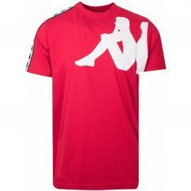 Tee shirt 304ICL0_908 KAPPA rouge et blanc