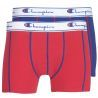 Pack de 2 boxer Champion basic rouge et bleu