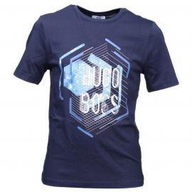 """Hugo Boss - Tee shirt à Motifs Futurisme Bleu """" J25A41 """"- Junior"""