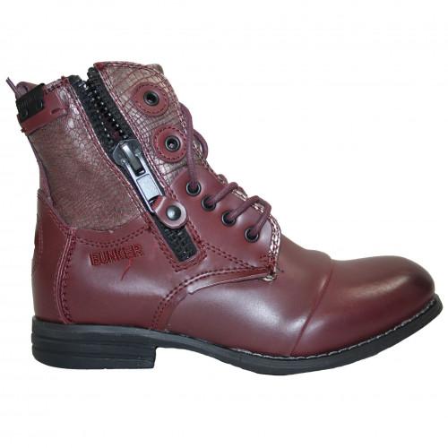 De Boots Marque Bordeaux Lu37 La Zip Femme Bunker bf7ygY6v