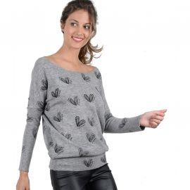 PULL F E864A17 GRIS