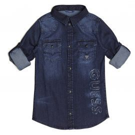 Chemise en jean bleu brut GUESS