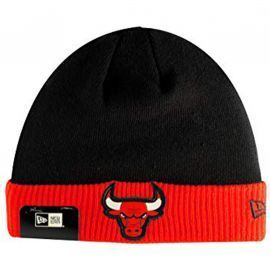 Bonnet junior garçon chicago Bulls noir et rouge