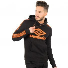 SWEAT H 688090 NOIR/ORANGE