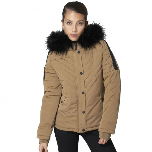 Conception innovante b14e3 0cd47 Veste parka camel femme project x F185007