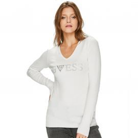 Pull guess strass ref: W84R66 blanc