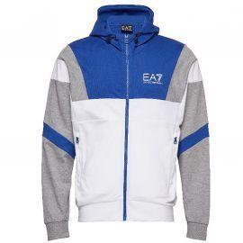 Veste Zipé EA7 Emporio Armani bleu et blanche