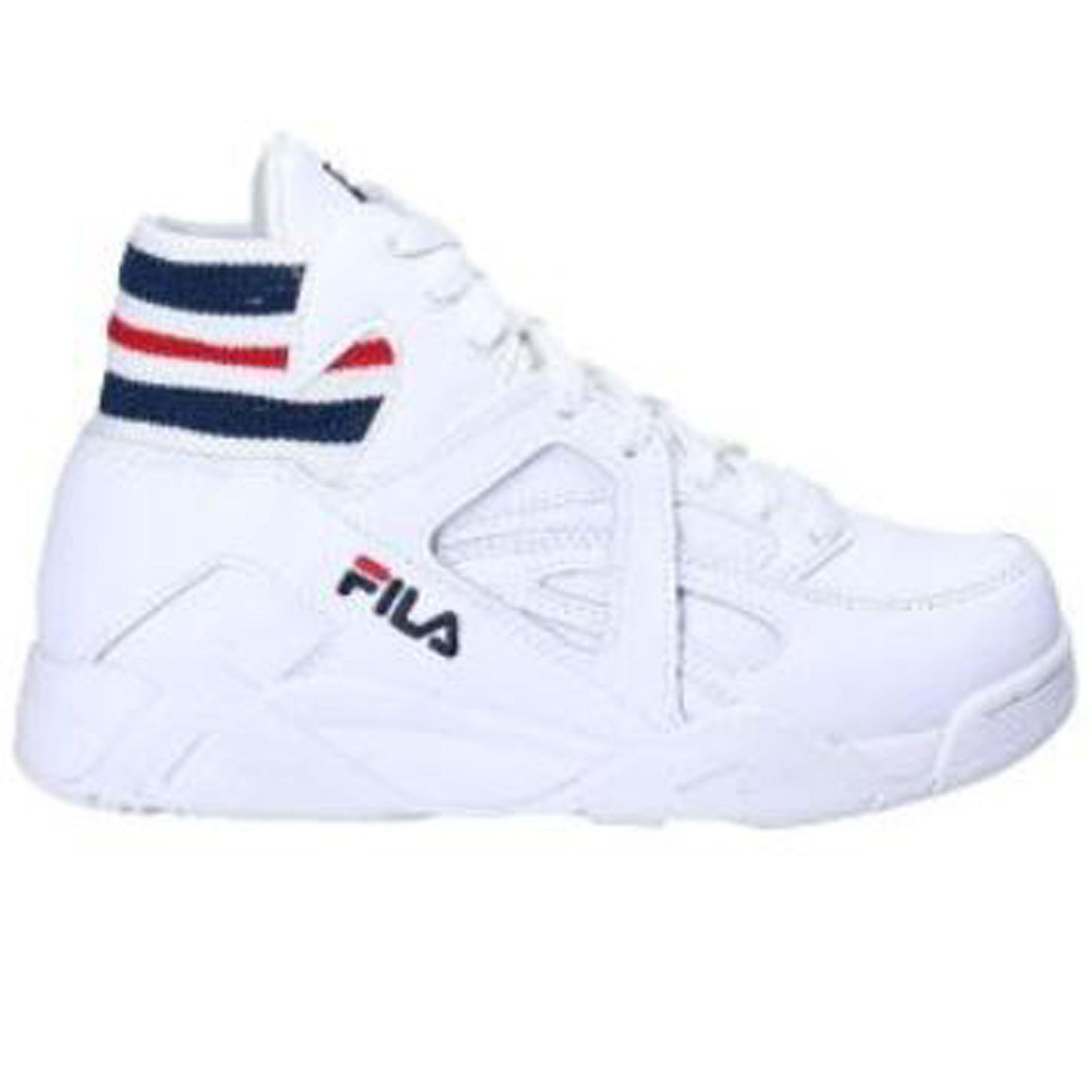 chaussure blanche montante fila