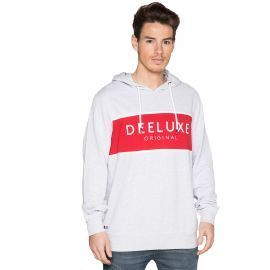SWEAT H FIVE GRIS/ROUGE DEELUX