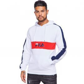 SWEAT H 687033 BLANC ROUGE