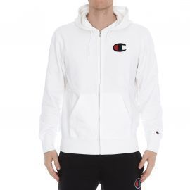 SWEAT H 212941 BLANC CHAMPION