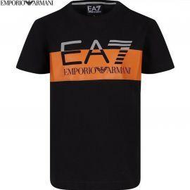 Tee-shirt junior ARMANI noir/orange 3GBT59