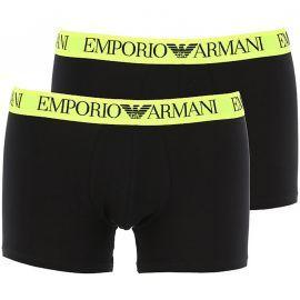 Pack de 2 boxers Homme EMPORIO ARMANI noir et jaune