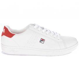 Basket Crosscourt blanc rouge Fila