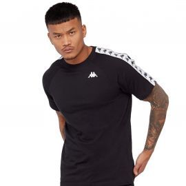 Tee shirt 3600440 A 75 noir et blanc bande