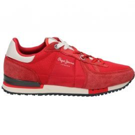 Baskets homme PEPE JEANS rouge tinker