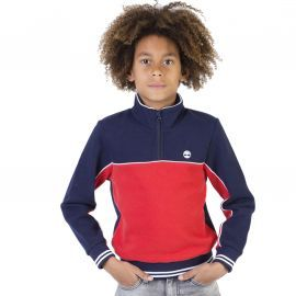 SWEAT J T25Q41 BLEU/ROUGE TIM
