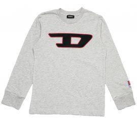 Tee shirt DIESEL rétro gris Bouclette