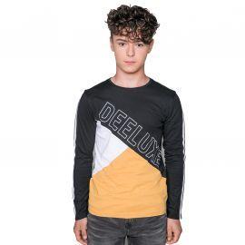 Tee shirt DEELUXE manche longue noir et jaune bros