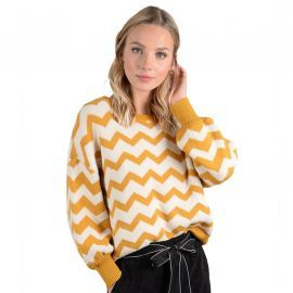 Pull MOlly bracken Rétro jaune vague