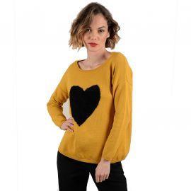Pull coeur molly bracken jaune