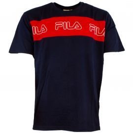 Tee shirt FILA AKI bleu et rouge