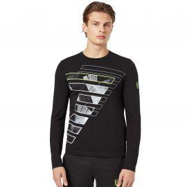 Tee-shirt homme ARMANI EA7 6GPT63 noir jaune