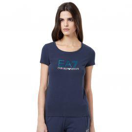Tee shirt Armani Ea7 bleu marine femme