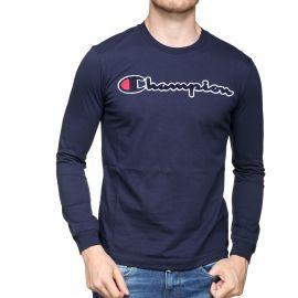 Tee shirt Champion bleu manche longue