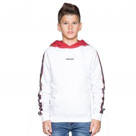 Sweat junior DEELUXE à capuche blanc look
