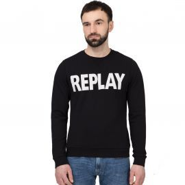 Sweat REPLAY col rond noir