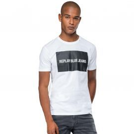 Tee shirt REPLAY blanc Blue jeans