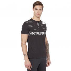 Tee shirt armani gros logo EA7 noir