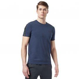 Tee shirt Armani à bande bleu marine