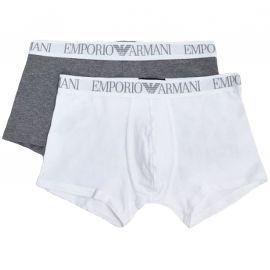 Pack de 2 boxer EMPORIO ARMANI gris et blanc