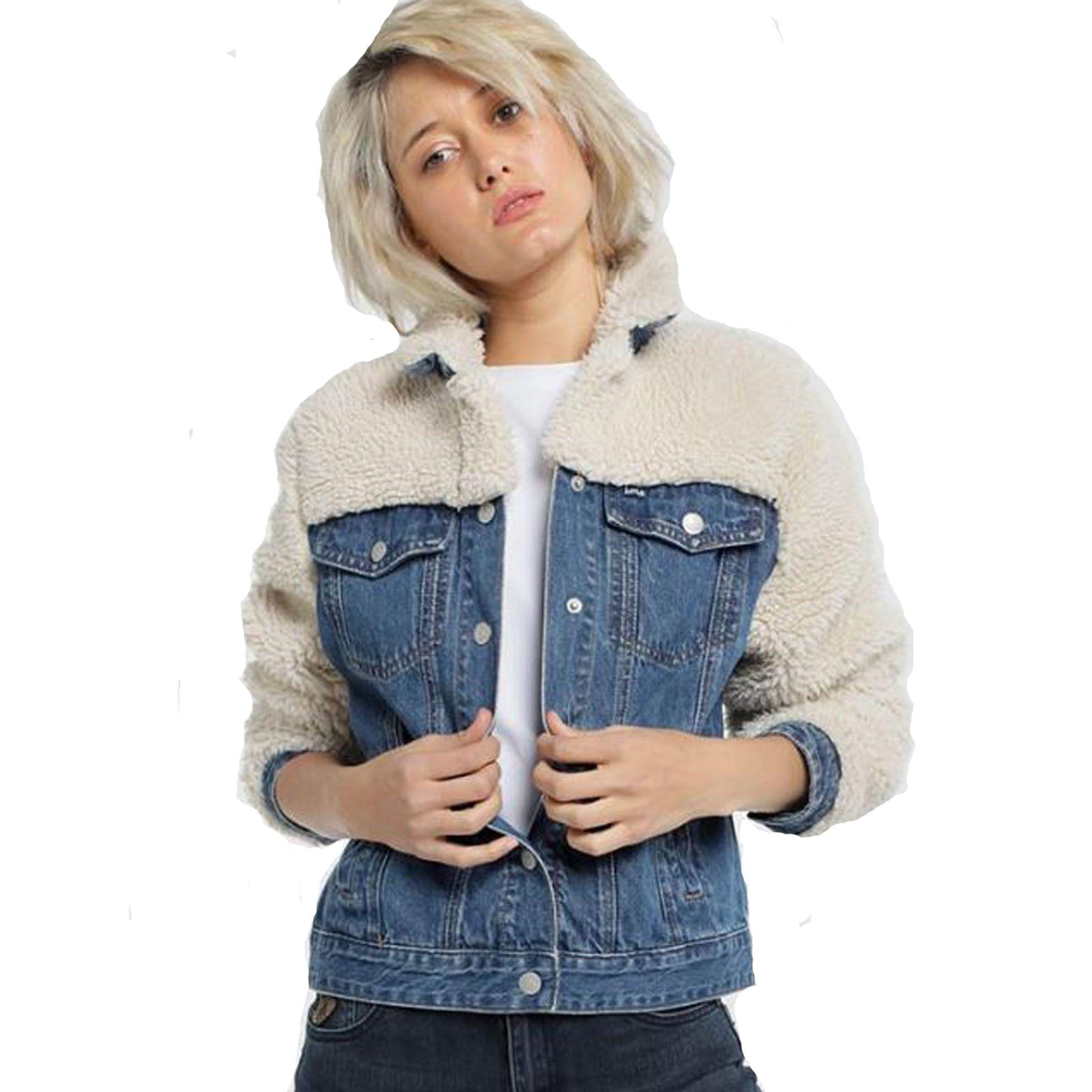 Nouvelle veste en jean et moumoute bonnie thylane