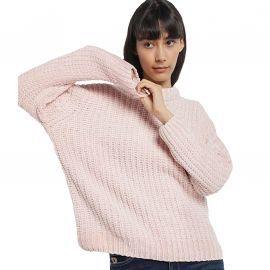 Pull en laine rose Lois femme