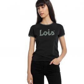 Tee shirt lois jean noir et vert