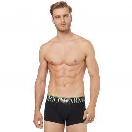 Boxer homme EMPORIO ARMANI noir et vert 111389 9A516