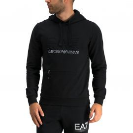 Sweat Armani EA7 noir en relief