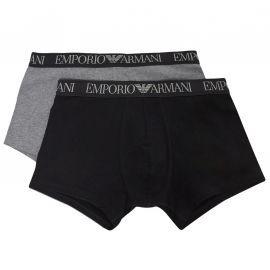 Pack de 2 boxers Emporio Armani bleu et gris
