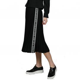 Jupe plissée noire love avec bande