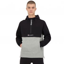 SWEAT H 213417 NOIR GRIS
