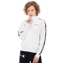 Veste zippé champion blanche avec bandes 111978