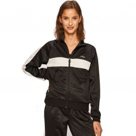 Veste fila zippé pour femme 682842 noire et blanche