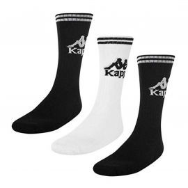 Pack de 3 paires de chaussettes Kappa noir blanc et noir