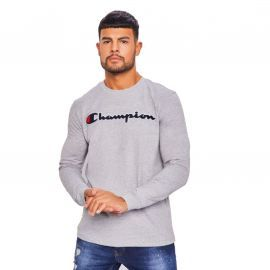 Tee shirt manches longues champion gris chiné 213517