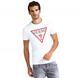 Tee shirt GUess Triangle blanc m94I42