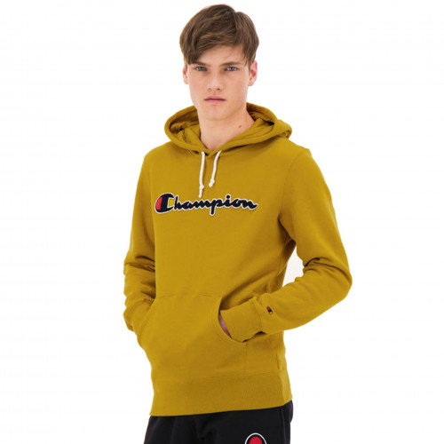 Sweat champion à capuche jaune 213498